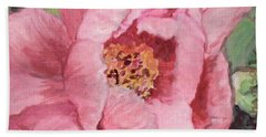 Pink Peony Beach Sheet by Kristen Abrahamson