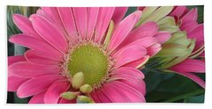 Pink Petals Beach Towel