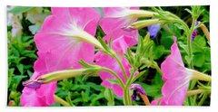 Pink Petunia Flower 1 Beach Towel