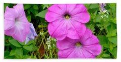 Pink Petunia Flower 2 Beach Towel