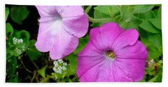 Pink Petunia Flower 3 Beach Towel