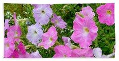 Pink Petunia Flower 6 Beach Towel