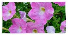 Pink Petunia Flower 7 Beach Towel
