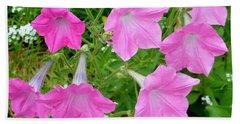 Pink Petunia Flower 9 Beach Towel