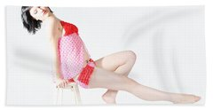 Pink Pinup Beach Towel