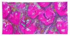 Pink Poppies Beach Sheet