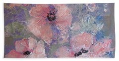 Pink Poppy Beach Sheet