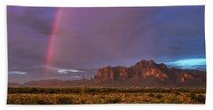 Beach Towel featuring the photograph Pink Rainbow  by Saija Lehtonen