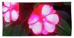 Pink Red Glow Beach Towel