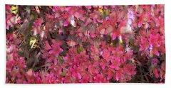 Pink Rhododendron Beach Towel by Thom Zehrfeld