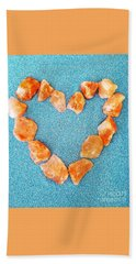 Pink Rocks Heart Beach Towel
