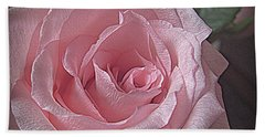 Pink Rose Bliss Beach Towel