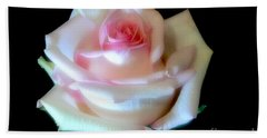 Pink Rose Bud Beach Sheet by Jeannie Rhode