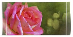 Pink Rose Dream Digital Art 3 Beach Towel