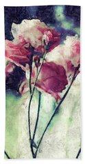 Pink Rose Flowers Beach Sheet by Phil Perkins