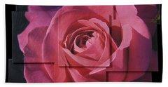 Pink Rose Photo Sculpture Beach Towel