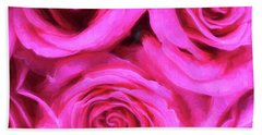 Pink Roses 2 Pretty In Pink Beach Towel