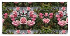 Pink Roses  Beach Sheet by Nora Boghossian