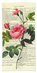 Pink Roses, Valentines Gift Beach Towel