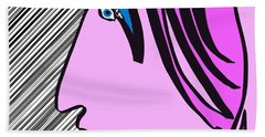 Pink Scarf Beach Towel