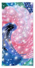 Pink Shell Fantasia Beach Towel