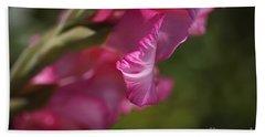 Pink Side Of Gladioli Beach Towel