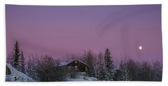 Pink Sky At Night Beach Towel