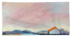Pink Sky Beach Towel