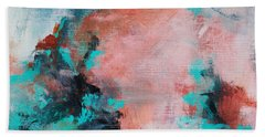 Beach Towel featuring the painting Pink Sky by Suzzanna Frank