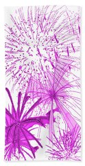 Beach Sheet featuring the digital art Pink Splash Watercolor by Methune Hively