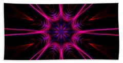 Pink Starburst Fractal  Beach Sheet