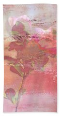 Pink Striped Tulip Flower Beach Sheet