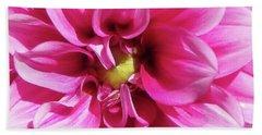 Pink Summer Flower Macro Beach Sheet