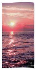 Pink Sunset Beach Sheet