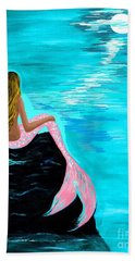 Pink Tail Beach Towel