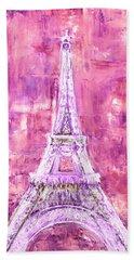 Pink Tower Beach Towel