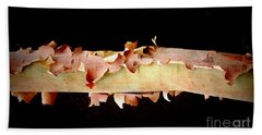 Pink Tree Bark Beach Towel by Lexa Harpell
