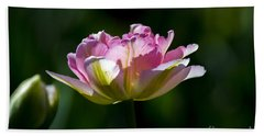 Beach Towel featuring the photograph Pink Tulip by Angela DeFrias
