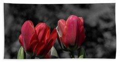 Pink Tulip Pop Beach Sheet