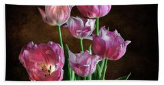 Pink Tulips Beach Sheet