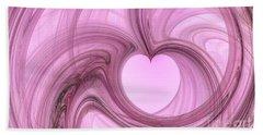 Pink Valentine Beach Towel