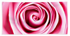 Beach Towel featuring the mixed media Pink Vortex by Lucia Sirna