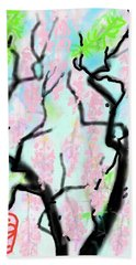 Pink Wisteria Beach Sheet