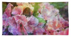 Pink With White Frills 1503 Idp_3 Beach Towel