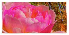 Pink Woods #e1 Beach Sheet by Leif Sohlman