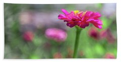 Pink Zinnia Beach Towel