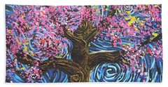 Pinky Tree Beach Towel