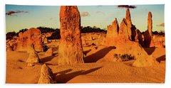 Beach Towel featuring the photograph Pinnacles 7 by Werner Padarin