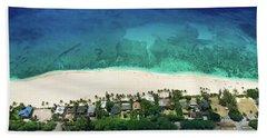 Pipeline Reef Overview Beach Towel