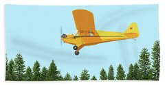 Piper Cub Piper J3 Beach Towel